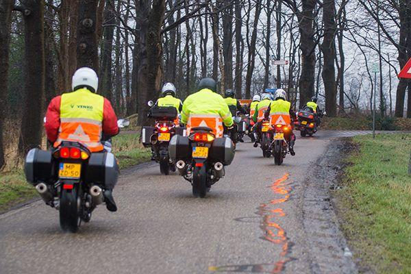voorrijden van het parkoers ronde van Drenthe 2017